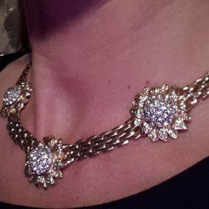 *Glamorous!!!* Crystal and Gold Necklace