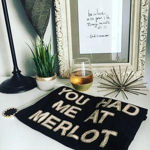 You Had Me At Merlot Bow & Drape Top