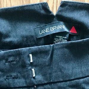 DEEP DISCOUNT Dark Grey/Black Lane Bryant Pants
