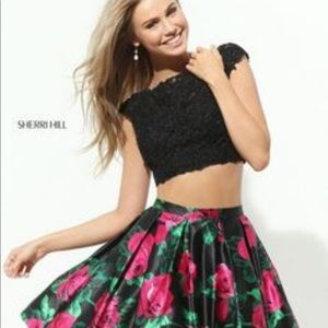 Sherry Hill two piece short homecoming dress