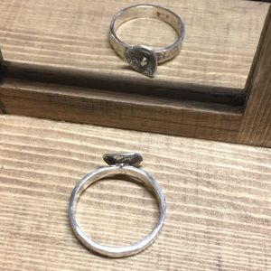 CBL Jewelry - Sterling silver ring with textured band, size 5.5