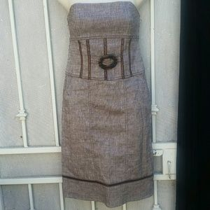 Bebe strapless linen dress