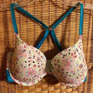Victoria's Secret Lined Demi Bra 34D.Straps change