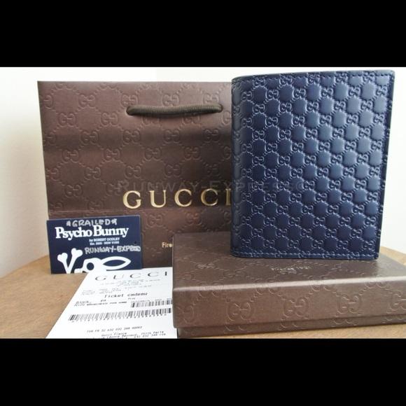 6c55b9c971b2 Gucci Leather Micro Guccissima Wallet BLUE. NWT. Gucci. $350 $1. Size