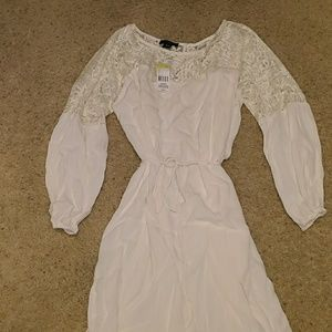 3/4 lace polyester dress