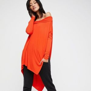 Free People Grapevine Tunic Red Size Small NWT