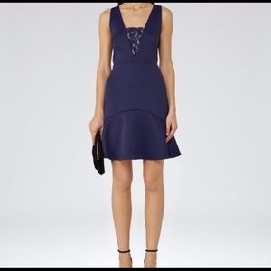 Reiss Hudson Fit and Flare Dress - Indigo