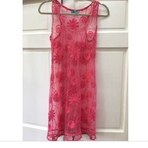 Letarte Lace pink Swim Cover Up dress m