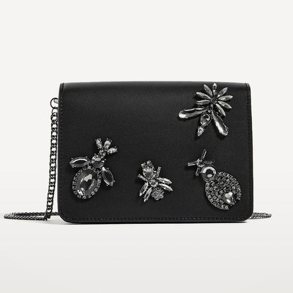 3fb8bfc5ef6 Zara Bags | Stone Detail Crossbody Bag Host Pick | Poshmark