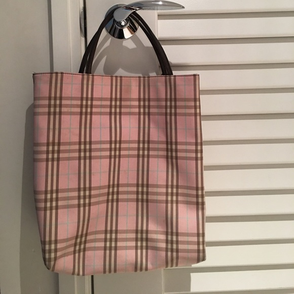 f06b9ece1218 Burberry Handbags - Authentic Burberry pink plaid tote- FLASH SALE 💫