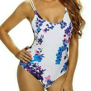 Other - Floral one piece swimsuit