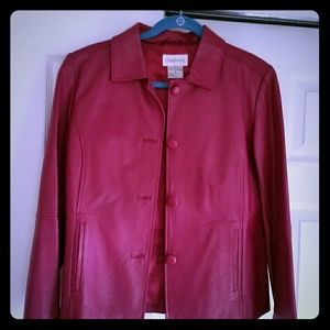 Chadwicks genuine leather jacket - Berry