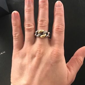 David Yurman Belmont Curb Link Ring with 18k Gold 394rFc