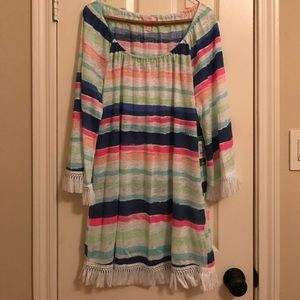 "NWT Lilly getaway coverup ""cats meow stripe"" print"