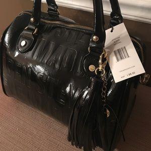 Steve Madden black leather handbag NWT beautiful