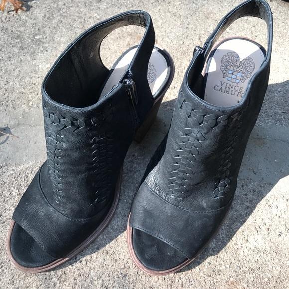 Vince Camuto Schuhes  Toe  schwarz Open Toe  Booties Größe 10   Poshmark ef9b03