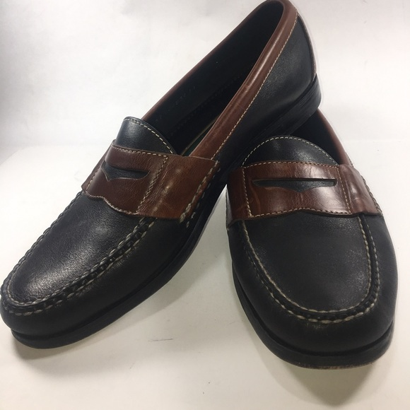 f2163b03dd2 Cole Haan Other - Cole Haan Black   Brown Slip On Penny Loafer 11 D