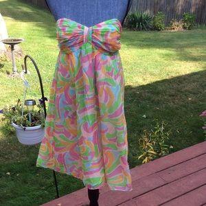 Sho's Hanna strapless mini dress