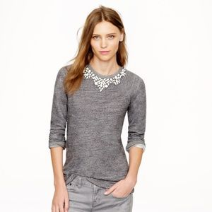J. Crew Tops - J.Crew Bib necklace sweatshirt- L