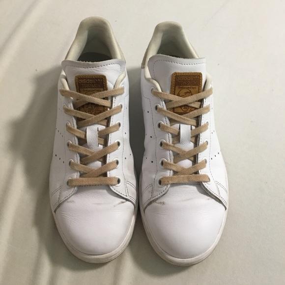 Adidas Beige Detail Stan Smith (Brown Sole)