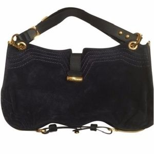 Jimmy Choo Python Trim Ayse (navy) Shoulder Bag