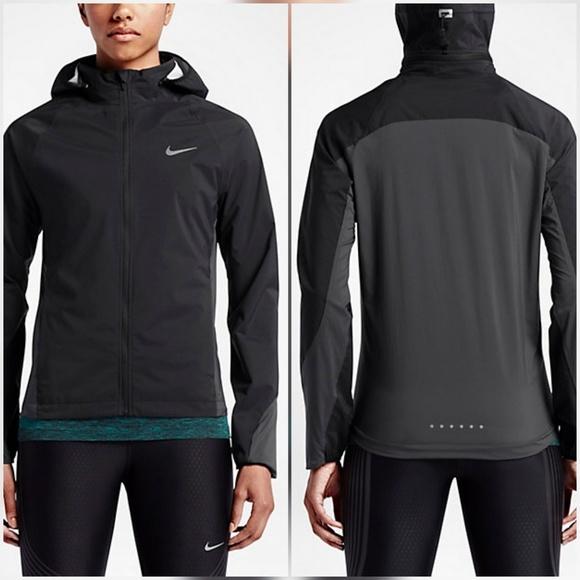 fb408b9fe587 Nike Shield Black Anthracite Running Rain Jacket