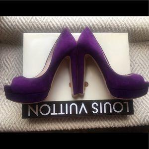 Perfect shoe for fall Miu Miu royal purple suede