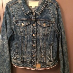 Anthropologie Pilcro acid wash denim jacket lg