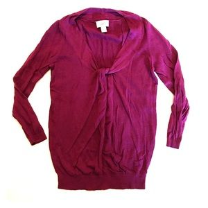 LOFT Pinkish Purple Thin Knit Pullover Sweater XS