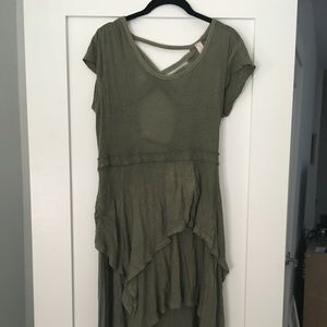 Free People Size Small Flowy Olive Dress
