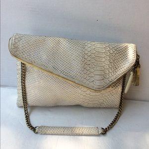 Henri Bendel Croc Embossed Shoulder Bag
