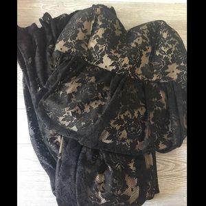 Torrid Black Lace Dress Size 12