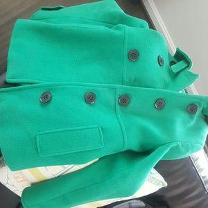 Express Small Green Pea Coat