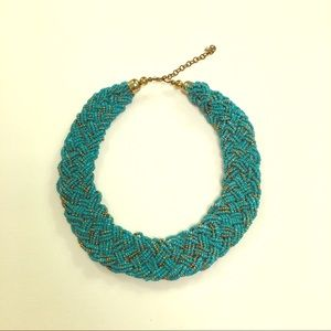 🆕 Beaded turquoise and gold necklace