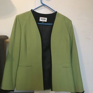 Never worn green blazer with black accents