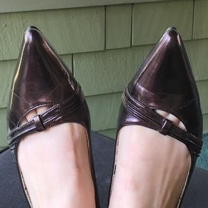 We Who See bronze pointy flats