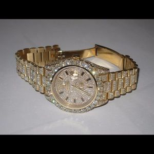Fully iced out presidential Rolex