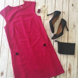 Michael Kors sheath dress magenta pink
