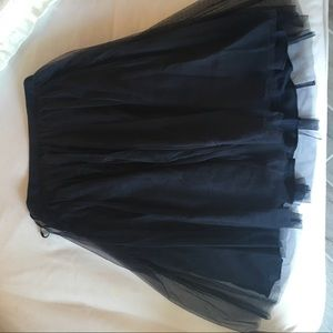 French connection navy tulle skirt