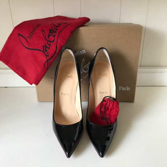 21ed7d5a3f3 Christian Louboutin SO Kate Black Patent Leather