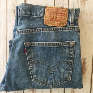 Levi slim fit 512 high waisted jeans