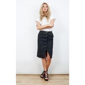 STAY SUNNY CHICAGO - waxed denim skirt