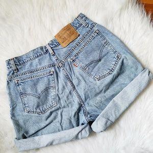 Vintage Levi Orange Tab Denim Shorts 950 12 Reg