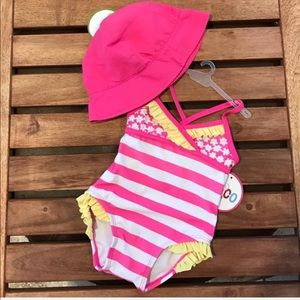 Summer sun hat  and Matching swimsuit