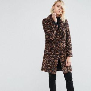 Asos Faux Leopard Coat