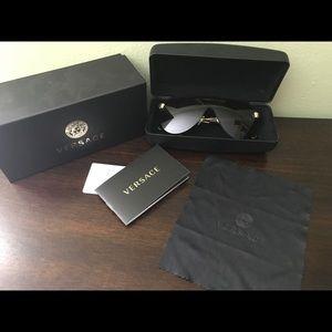 Versace Black Glam Medusa Sunglasses