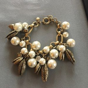 J. Crew Pearl and Charms Link Bracelet