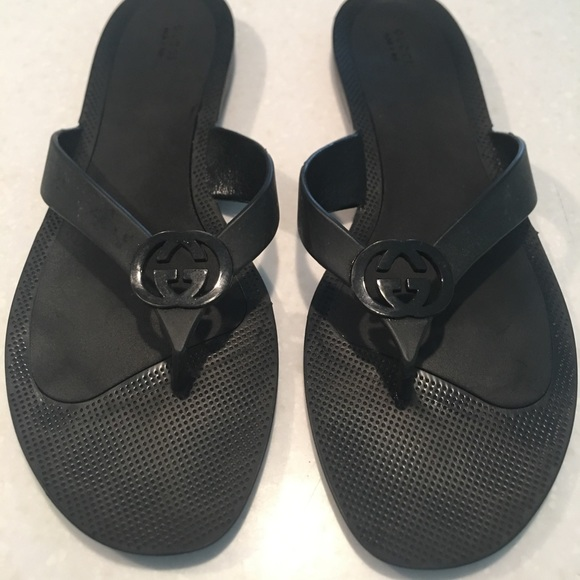 93a2b86ce6a Gucci Shoes - Gucci rubber thong sandals