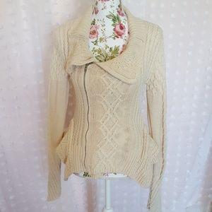 BCBG Maxazria Knit Zip Sweater