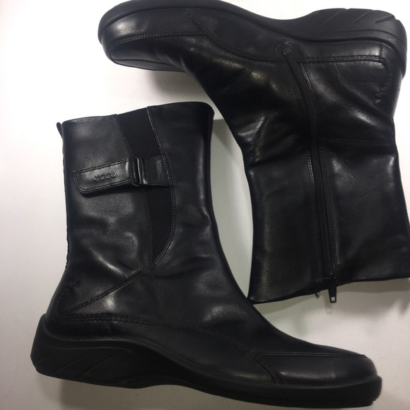 Leather Boots Ankle Tex Black Babett Gore Ecco FKJ3Tlc1